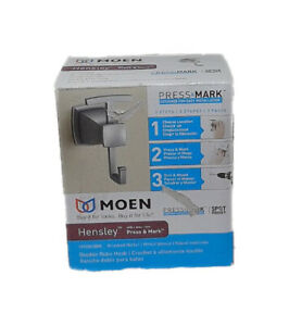 MOEN Hensley Double Robe Hook with Press and Mark in Brushed Nickel MY3503BN