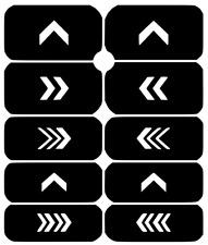 Arrow  Nail Art Vinyl Stencil Guide Sticker Manicure Hollow Template