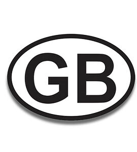 GB Car Sticker Euro Road Legal Badge  Europe Travelling Stickers Water Resistant