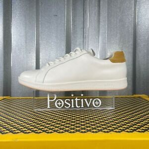 Paul Smith Womens Rabbit White Leather Low Top Sneakers Shoes US 10 New