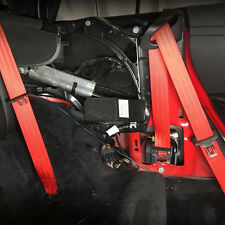RED SEAT BELT WEBBING REPLACEMENT - SEATBELT HARNESS - NEW BELT INSTALL