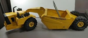 "Vintage Mighty Tonka Scraper Pressed Steel Toy 27"" Long XMB 975"