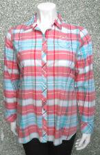 20 1/10 Milano blusa de mujer talla 46 manga larga multicolor cuadros clásico