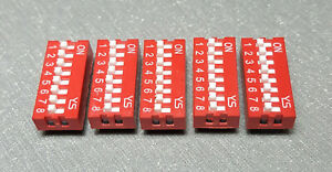 8 Way DIP switch Pack of 5