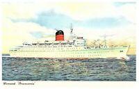 Ocean Liner RMS Franconia Cunard Line Vintage Postcard
