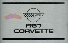 CORVETTE 1987 OWNERS MANUAL CHEVROLET BOOK 87 CONVERTIBLE CHEVY Z52 C4 B2K