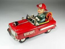 TN NOMURA - N°12 - Fire Chief Car - Tin car battery operated - Japan