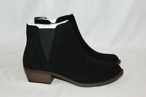 NEW Kensie Women's Gazelle Suede Ankle Boots Black Size 8