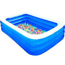 Inflatable Swimming Pool Outdoor Backyard Inflated Water Tubs for Kids, Adults