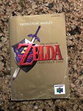 The Legend of Zelda: Ocarina of Time Nintendo 64 N64 - Manual ONLY! Gold