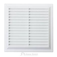 Bianco Plastica Louvre Sfiato aria condotto di ventilazione con zanzariera 8886D