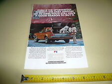 1972 AMC Hornet Sportabout Ad/Advertisement