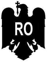 "2x Auto Aufkleber Rumänien ""România"" Wappen Rumania 11cm konturg. Sticker Decal"
