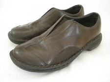 MERRELL SZ US 6M EUR 36 TETRA FLEX DARK BROWN SMOOTH LEATHER SLIP ON MOCS Shoe
