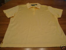 Astra classic polo shirt womens NWT 60.00 L NEW yellow ladies
