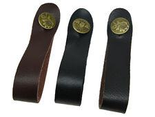 Confezione da 3 Gancio Cinturino in Vera Pelle con Pulsante Per Accoustic chitarra classica BASS