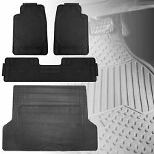 All Weather Black Floor Mats with Black Cargo Mat Combo Set For Auto