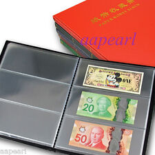 New Paper Money Album Holders World Banknotes Collection book 20Pages 60pockets