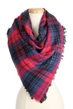 Red and Multi Colored Blanket FASHION Scarf