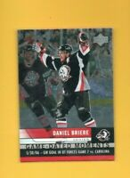 D20248  2006-07 Upper Deck Game Dated Moments #GD30 Daniel Briere BK$25
