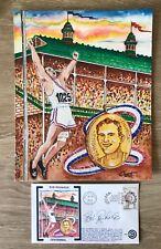 BOB RICHARDS - Olympic Centennial Cachet with Original Artwork!