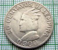 HONDURAS 1932 50 CENTAVOS, SILVER