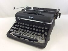 Vintage Typewriter Royal Portable Manual Quiet De Luxe Glass Keys Steampunk Cool