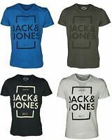 Jack and Jones Mens T Shirts Regular Fit Crew Neck Short Sleeve Casual Tops S-XL