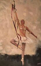 William su tela originale leggerezza Balletto IL LAGO DEI CIGNI Ragazza Donna Pittura