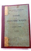 Poesie di Alessandro Manzoni - Collezione scolastica Barbèra - 1901