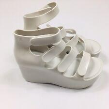 Melissa Galaxia Women's UK 4 US 6 White High Wedge Heels New Sample 32705 01177