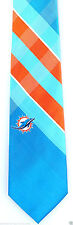 Miami Dolphins Grid Mens Necktie NFL Football Sports Fan Logo Plaid Tie New