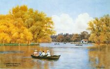 Mounted Print. Connaught Water, Epping Forest, Essex  A R Quinton