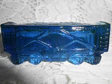 Blue Vaseline glass train coal car uranium railroad RR boxcar Cobalt steam glows