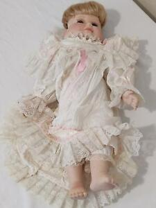 """Very Old VINTAGE Three faced doll Triple face doll  22"""""""
