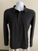 Arc'teryx Men's Shirt Polo Long Sleeve Solid Black Size Large (L)