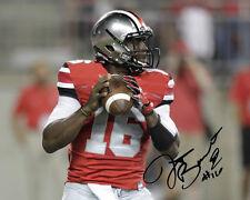 JT Barrett Ohio State Buckeyes QB Football Signed 8X10 Photo Auto Rp