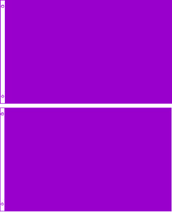 Lot 2 2x3 Solid Plain Purple Printed Nylon Flag 2'x3' Advertising Banner