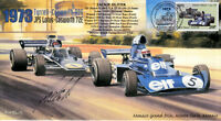 1973 TYRRELL-COSWORTH JPS LOTUS-COSWORTH MONACO F1 cover  signed OLIVER