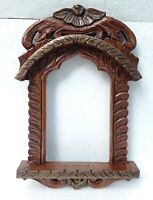 Indian Handcrafted Wood Rajasthani Jharokha Picture Photo Frame Collectible Art