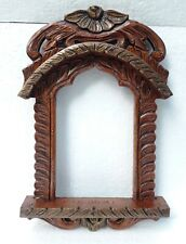 Handcrafted Wood Rajasthani Jharokha Picture Photo Frame Collectible Indian Art