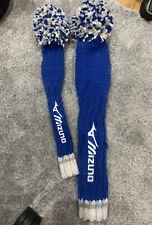 Mizuno Pom Pom Driver & Fairway Wood Headcover - Staff Blue/ White