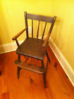 Antique child s youth high chair in original used condition