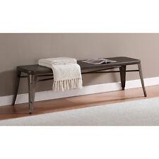 Brown Bench Steel 5 Foot Modern Indoor Outdoor Any Room Patio Yard Garden Home
