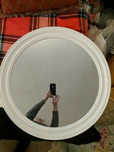 """Round Vintage White Wall Mirror bedroom bathroom shabby chic country modern 30""""."""