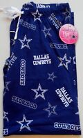 DALLAS COWBOYS HER STYLE WOMENS SLEEP LOUNGE PAJAMA PANTS S M L XL 2X BLUE NWT