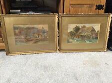 More details for antique pair of original landscape watercolours – unsigned