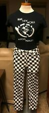 Almost Famous: Checkered High Rise Skinny Legging Jeans Sz.5 (Black-White)