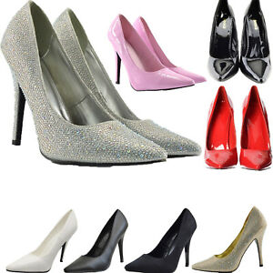 Womens Mens Drag Queen Pointy Toe High Heel Platform Court Shoe  Size 3-12