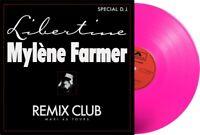 Mylene Farmer Maxi 45T vinyle Libertine Remix Club Exclusivité couleur Rose Fluo